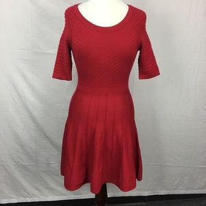 Candie's Red Sweater Skater Dress